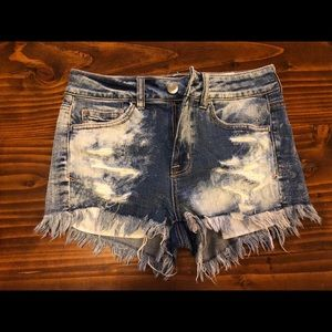 American Eagle High Rise Stretch Denim Short
